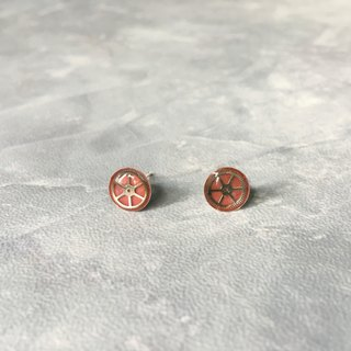 Frozen Time | Plating 925 silver Red Rose Earrings