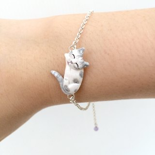 Tabby cat Bracelet, cat lover gifts