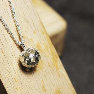 Hollow ball 925 pendant chain