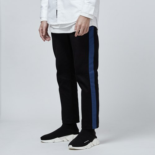 DYCTEAM - Stitching Ankle-Length Pants