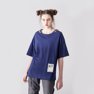 WOMENS ROUND NECK T SHIRT / NAVY