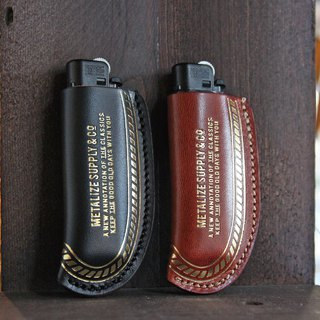[METALIZE] retro car factory leather lighter cover