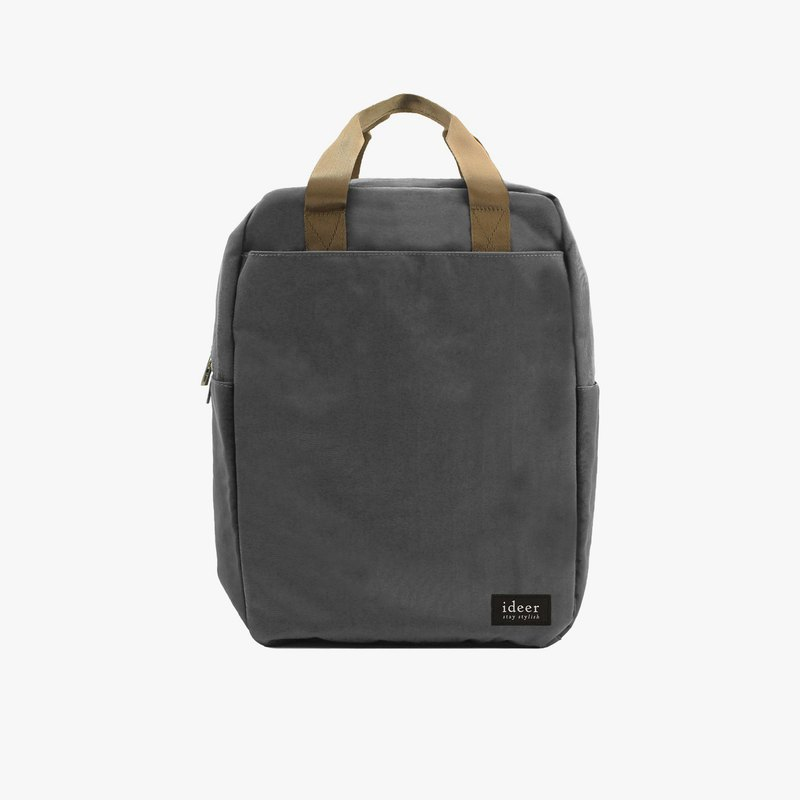 Gray water-repellent ultra-light nylon backpack notebook computer backpack computer bag travel school bag
