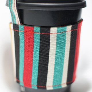 [AnnaNina] green cup set cup bag bag drink can accommodate red blue green stripes