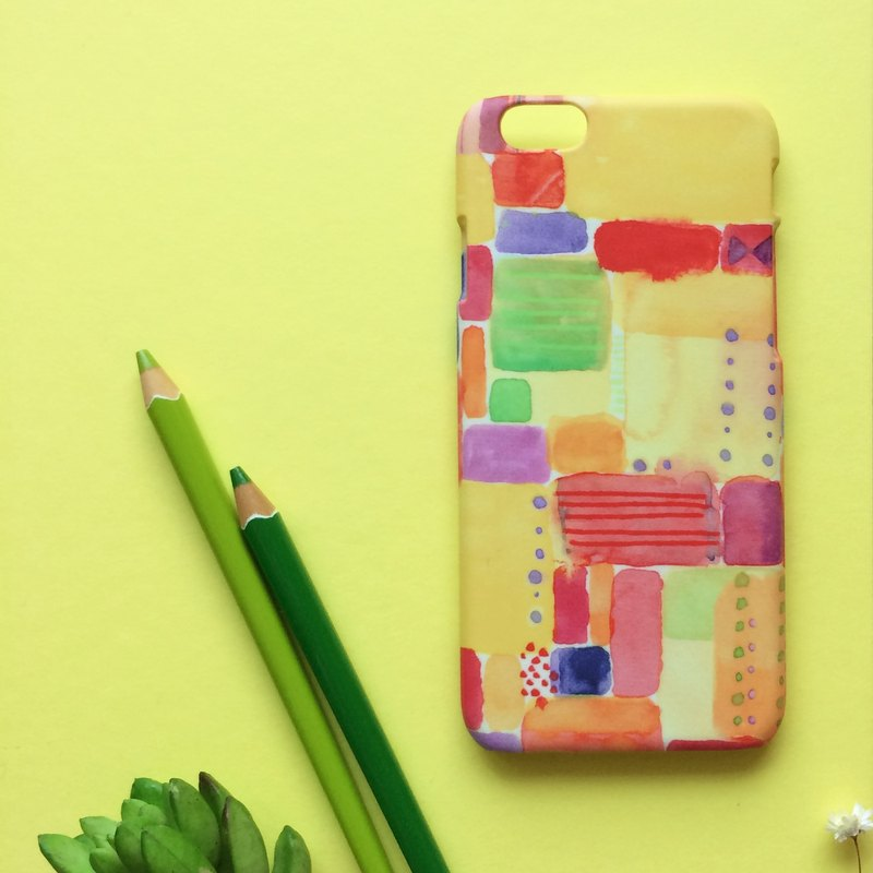 Watercolor Geometry. Matte Case( iPhone, HTC, Samsung, Sony, LG, OPPO)