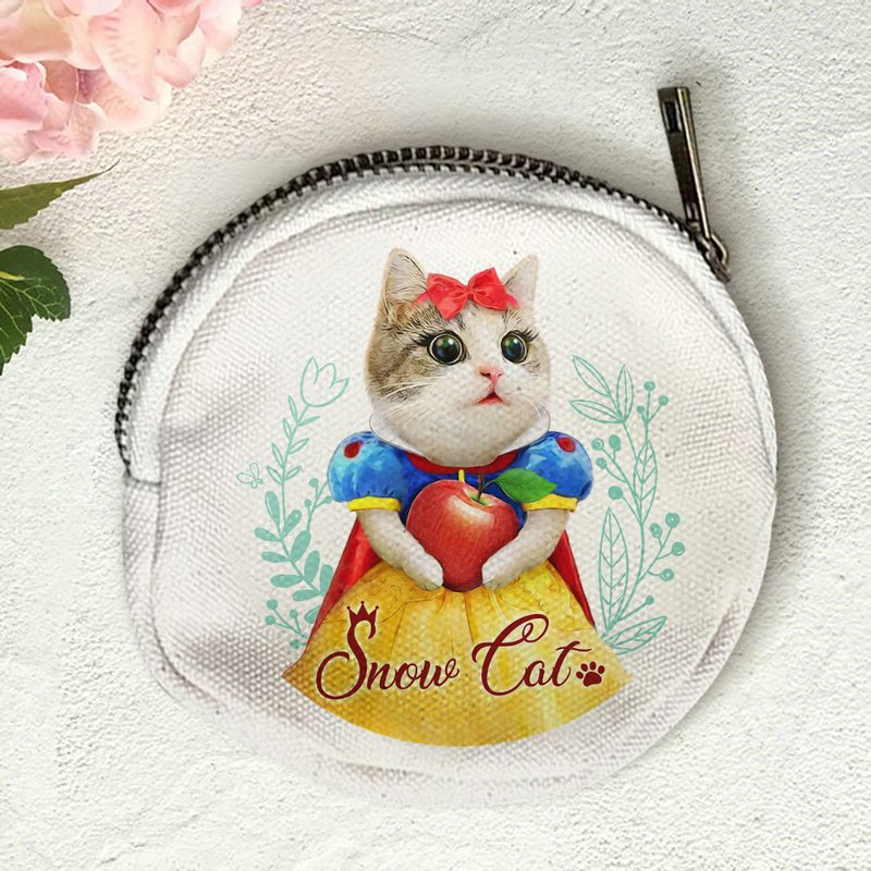 Cat princess canvas coin purse