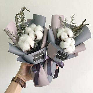 Dry bouquet of soft cotton bouquet