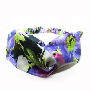 [Art] watercolor garden Italy 100% cotton hair band