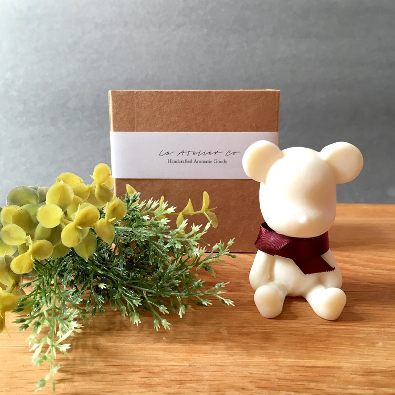 Scented Soy Wax Bear Ornament | Home Decor | Handmade Gift | Fragrance Diffuser