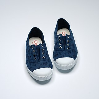 Spanish Nationals Canvas Shoes CIENTA Adult Jacquard Blue Scented Shoes 70998 48