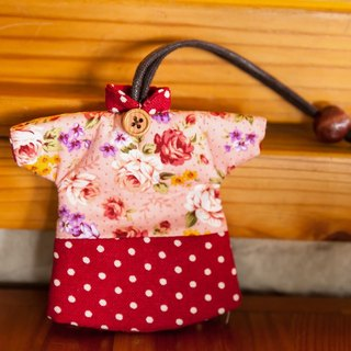 Le LoveRabbit- than the rabbit red retro Wallets - can house keys, clothes modeling, retro red, floral,