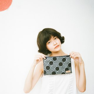Denim Pouch - dots