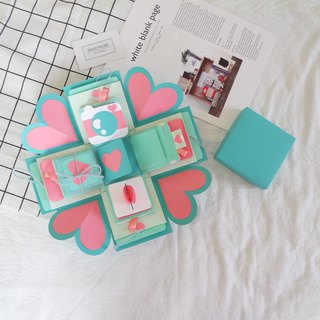 Gift Box Card - TIFFANY & CO.- Tiffany Box x Luxurious Agency - Handmade Cards / Valentine Card / Explosion Card / Explosion Box