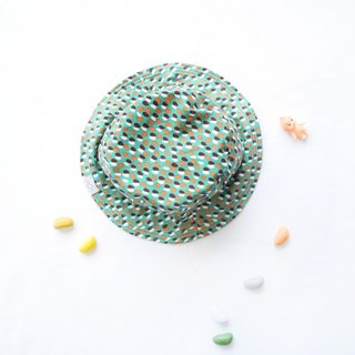 Summer Double Sided Fisherman Hat | Green Candy Paper