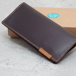 Be Two ∣ handmade multi-card layer long clip / classic wallet / full leather card layer / hand-stitched (black)