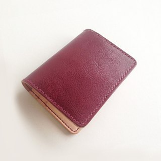 München Leather Credit Card Set // Wine Red