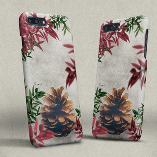 iphone case Pine cones red leaf for iphone5s,6s,6s plus, 7,7+, 8, 8+,iphone x