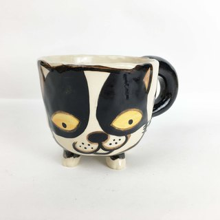Nice Little Clay handmade dog foot cup cute cat 0115-05