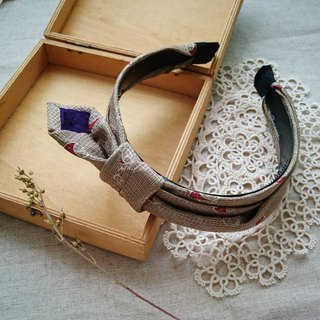 :: Antique Tie Vintage Tie Cloth Hair Band