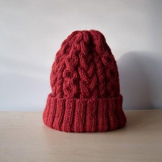 Alan knit cap · Red knitted hat ● Make-to-order production ●