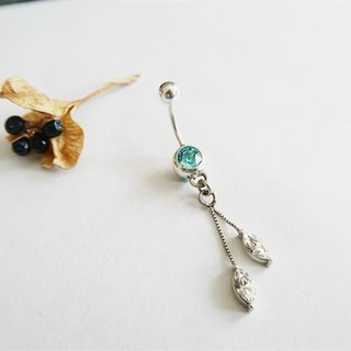 Round・Belly ring Hanging Lake blue Sterling Silver【SZBR1735】