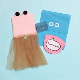 CLARECHEN Limited fashion cool Liangni moon gift box <Crab belly creamy veil plus I am a girl bib>