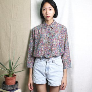 FOAK vintage medieval stained glass shirt