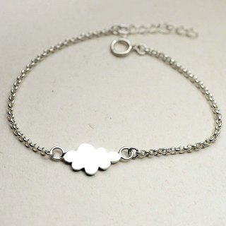 Handmade Cotton Candy Cloud Bracelet - Custom Hand Stamped