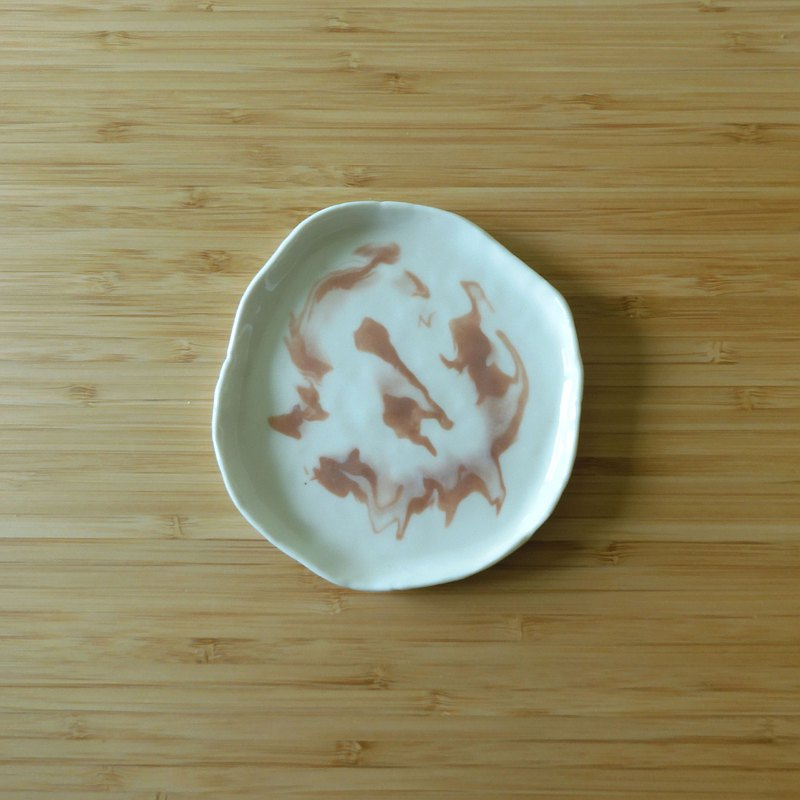 Rendering Feeling Porcelain Plate-Rose Grey