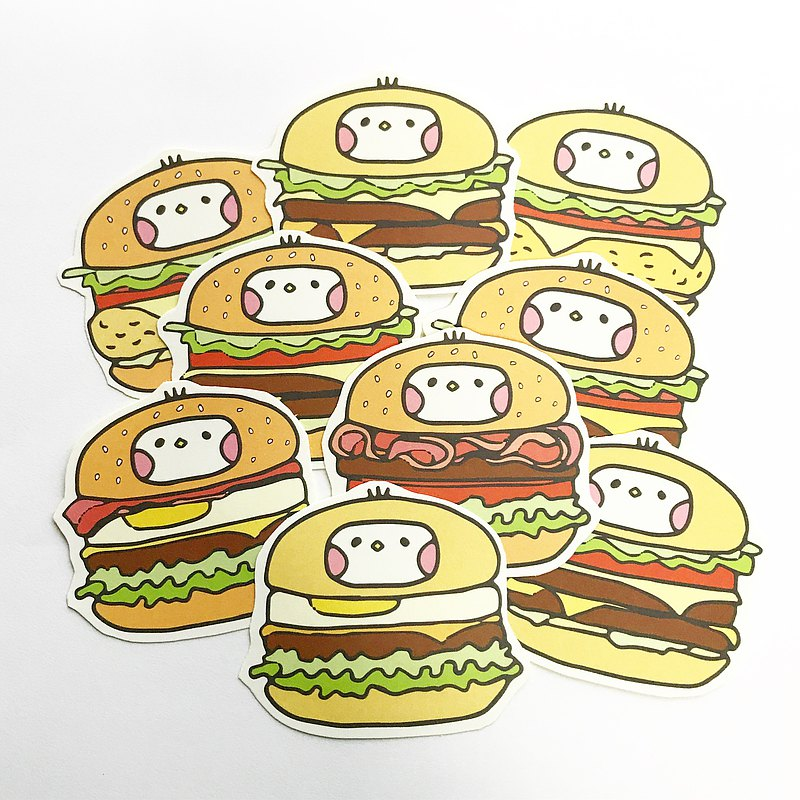Cloth Seed Bio | Burger Seed Illustration Sticker