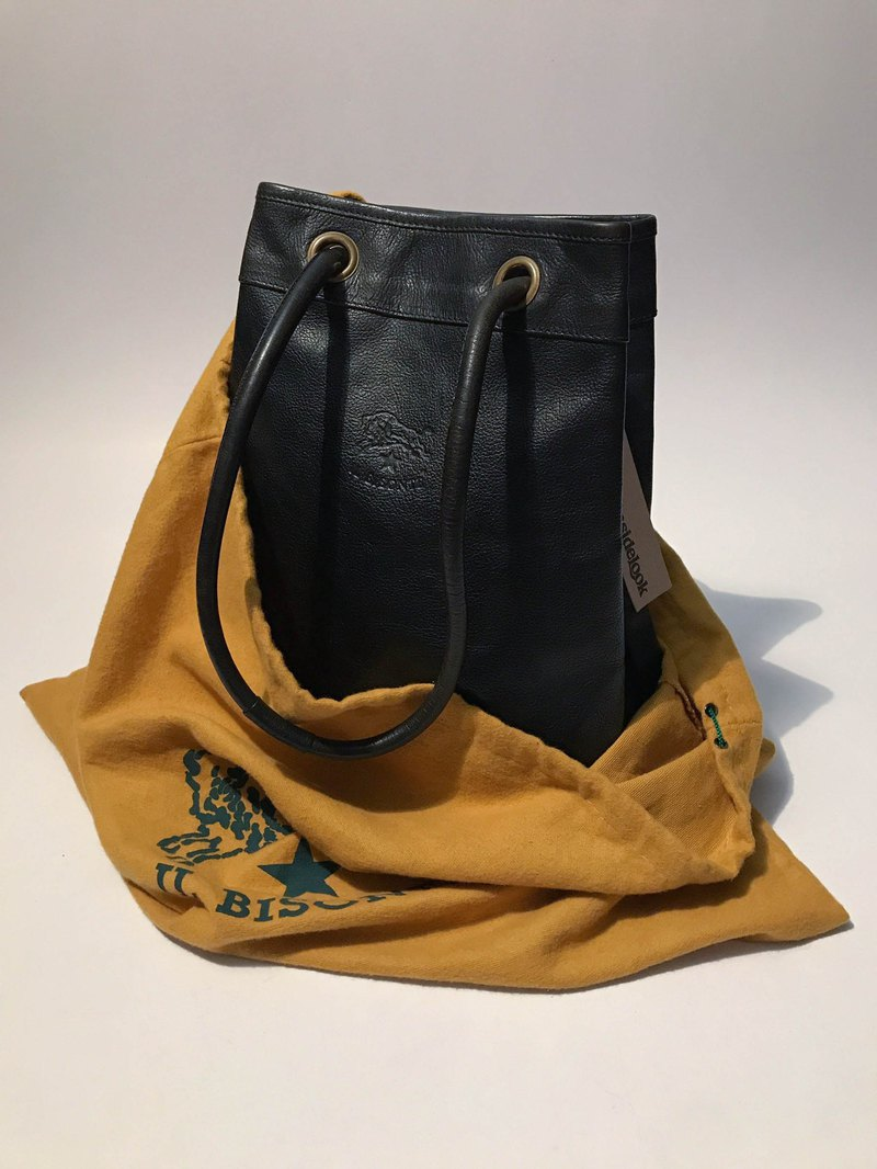 IL BISONTE bucket bag / cow leather / portable shoulder / tea core / Italian / discontinued