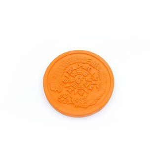 Sanwa Tile Kiln - Taiji Dragon and Phoenix Coaster