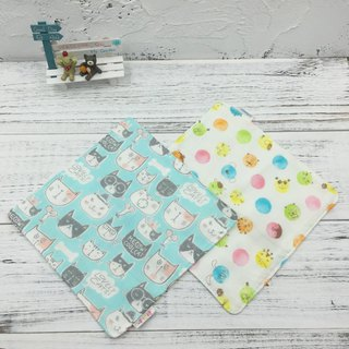 G20-soft soft gauze handkerchief (six-layer gauze) double-sided pattern big cat & bubble animal
