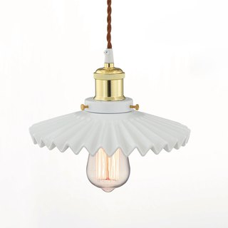 Baixuan ceramic white chandelier