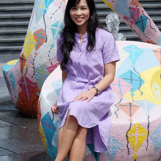 Teresa shirt dress (purple)