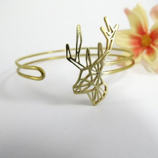 Deer Geometric two wire bracelet