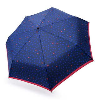 Safety Auto Open Close Umbrella - Flake Blue