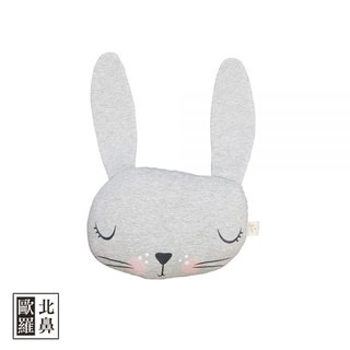 Mister Fly Animal Shaped Pillow - Grey Bunny