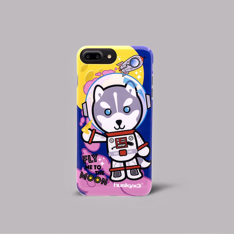 iPhone 7/8 Plus Husky x3 Moon Landing Dog Slim Personal Phone Case Phone Case