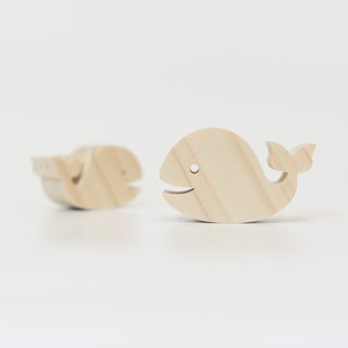 wagaZOO thick cut shape building blocks marine series - whale