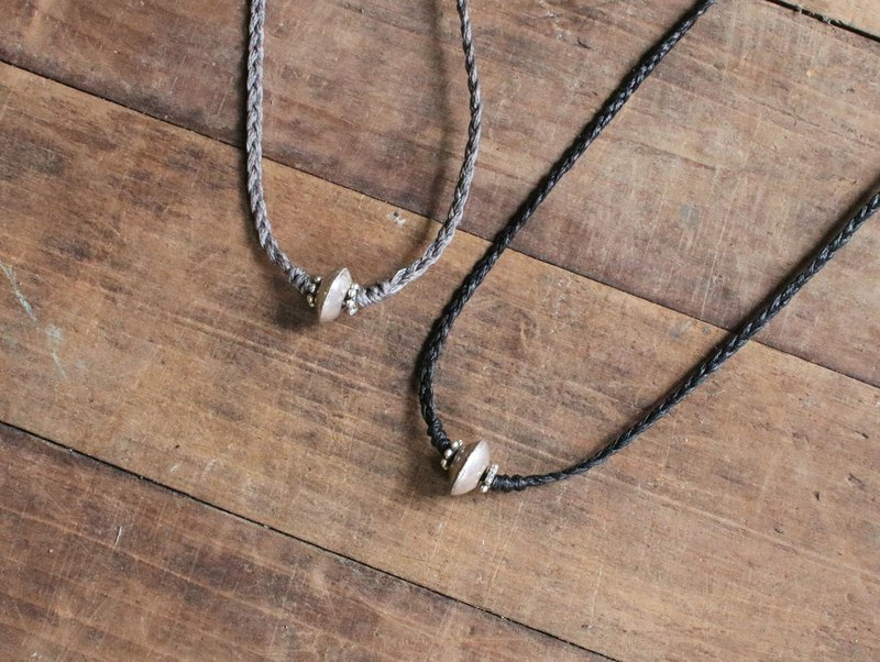 OMAKE Simple Silver Bead Necklace