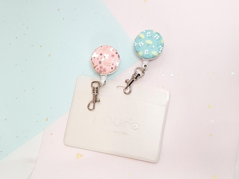 i Good clip telescopic document ticket holder clip - silk flower series / gardenia / sweet-scented osmanthus
