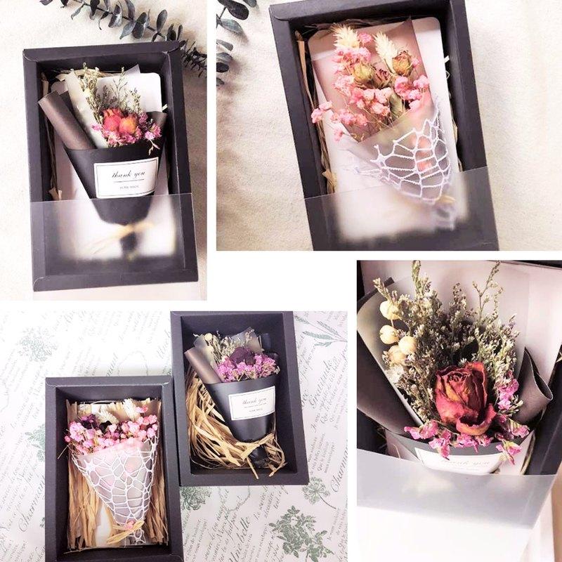 (加購區)送禮專用浪漫禮盒-乾燥花束+卡片+大禮盒