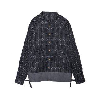 oqLiq - Display in the lost - Frosted Glass Cross Embroidered Shirt
