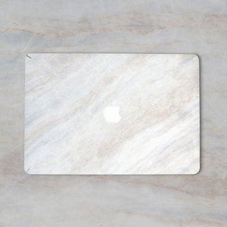 Original Jazz WhiteMarble Macbook Label Protector