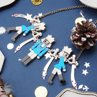 Nutcracker Statement Necklace - Blue