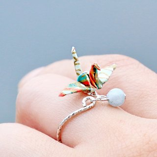 Mini cranes Crystal Ring (water reflect the azure) - Valentine's Day gift