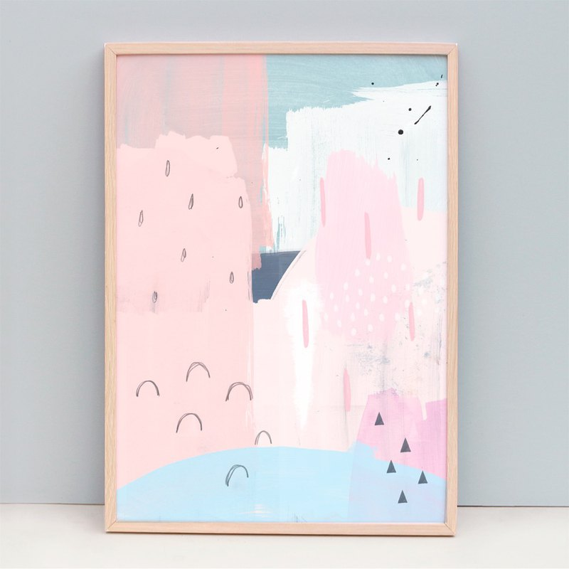 Giclee Print Pink Minimalist Abstract Art (Unframed)