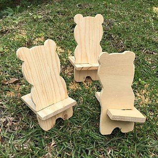 [Bear Ken Woodworking Workshop]//Customized//Cute Animal Shape Mobile Phone Holder