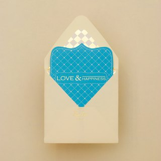 Western wedding invitation Tiffany blue love and happiness